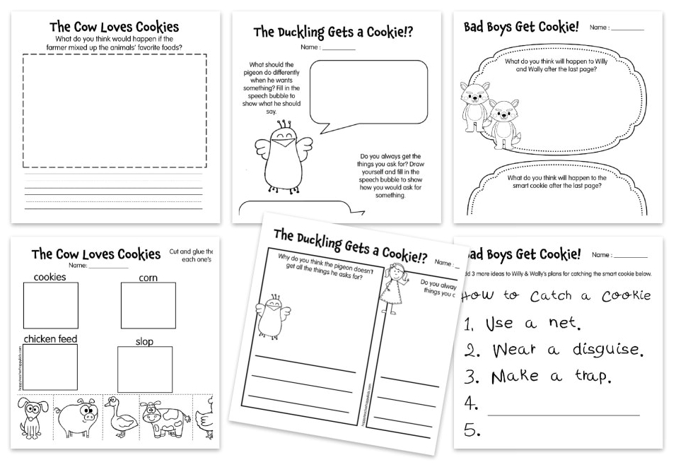 Cookie Reading Comprehension Freebie Collage for Happy Teacher