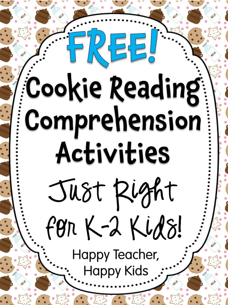 - Free Cookie Reading Comprehension Activities Perfect For Back To