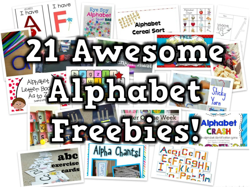 21 Awesome Alphabet Freebies Happy Teacher