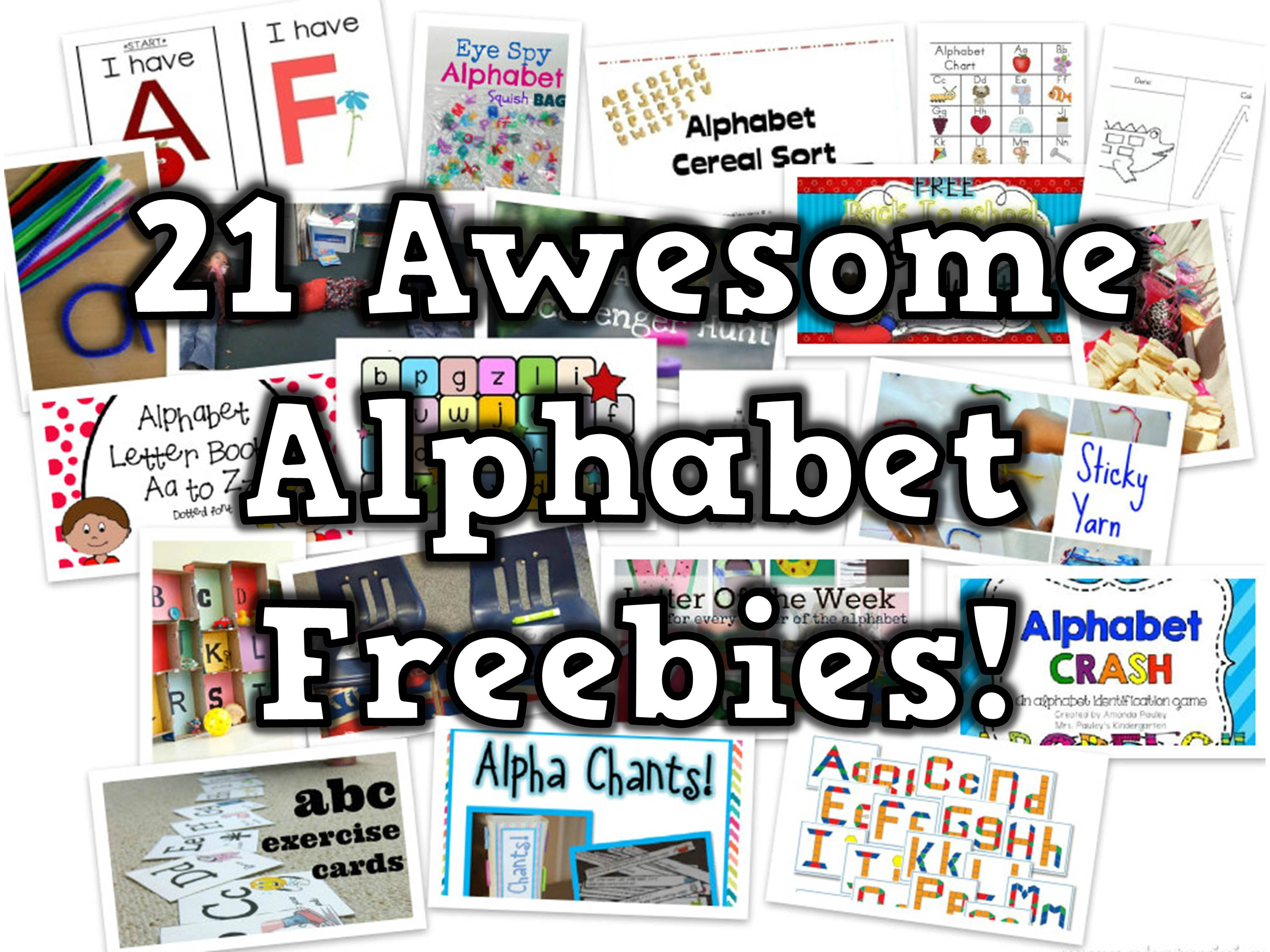 21 Free Alphabet Teaching Resources - Happy Teacher, Happy Kids