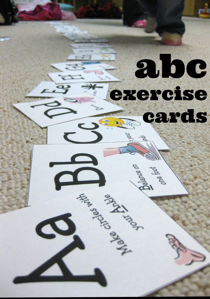 ABC Exercise Cards from Teach Mama