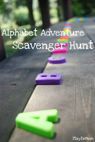 Alphabet Adventure scavenger hunt play dr mom
