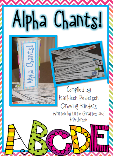 Alphabet Chants from Growing Kinders