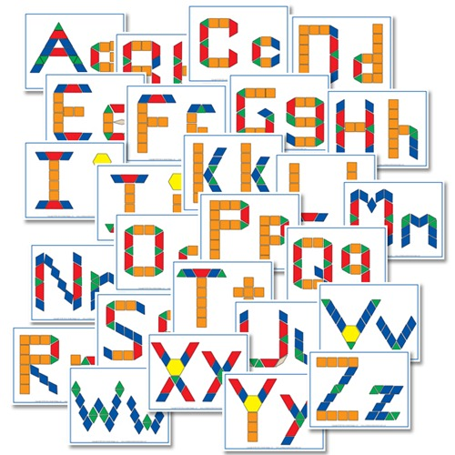 Alphabet Pattern Blocks from Confessions of a Homeschooler