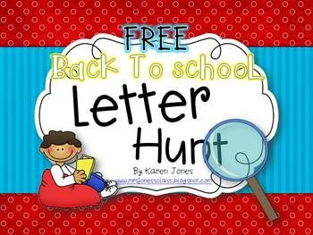 Back to School Letter Hunt from Karen Jones