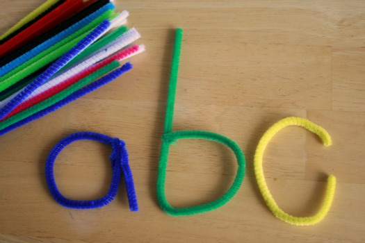 Learning Letters with Pipe Cleaners from Make and Takes