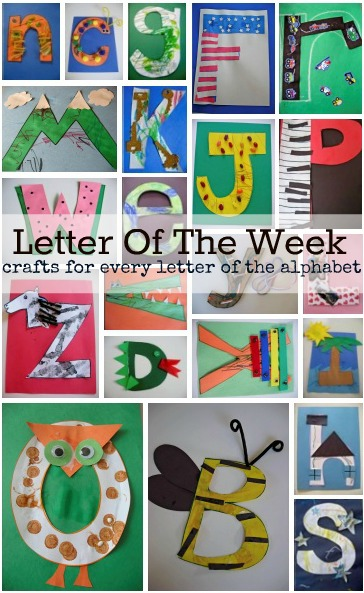 Letter of the Week Crafts from No Time for Flash Cards