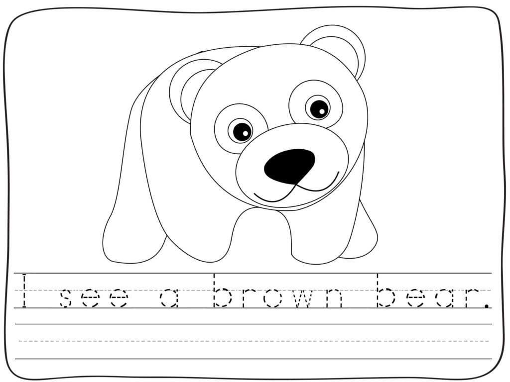 ... Brown Bear Activities for Back to School in Kindergarten & First Grade