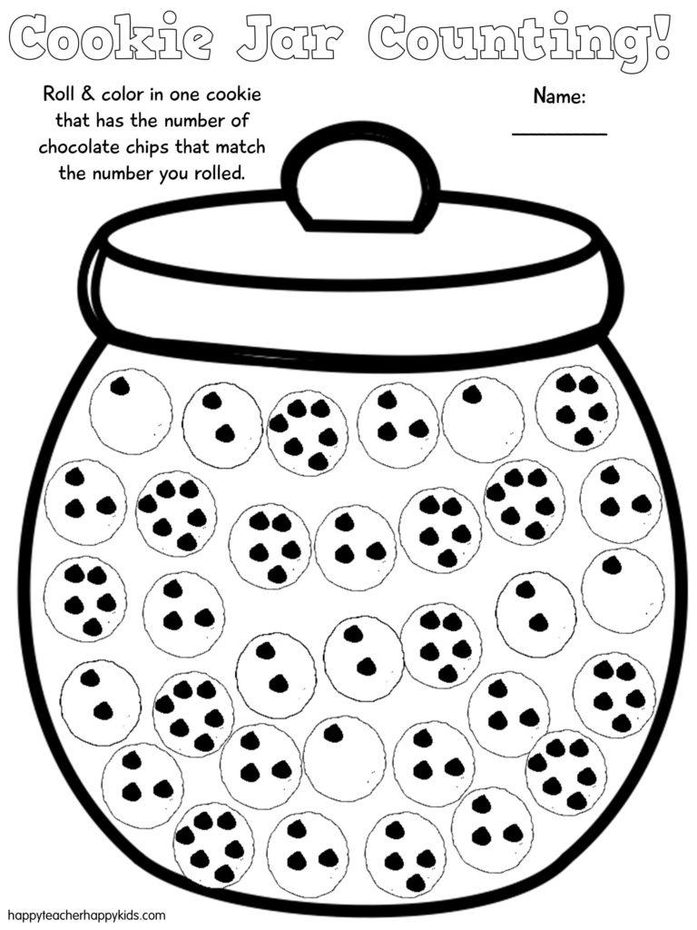 Free Cookie Jar Math for Kindergarten and First Grade - Happy Teacher ...