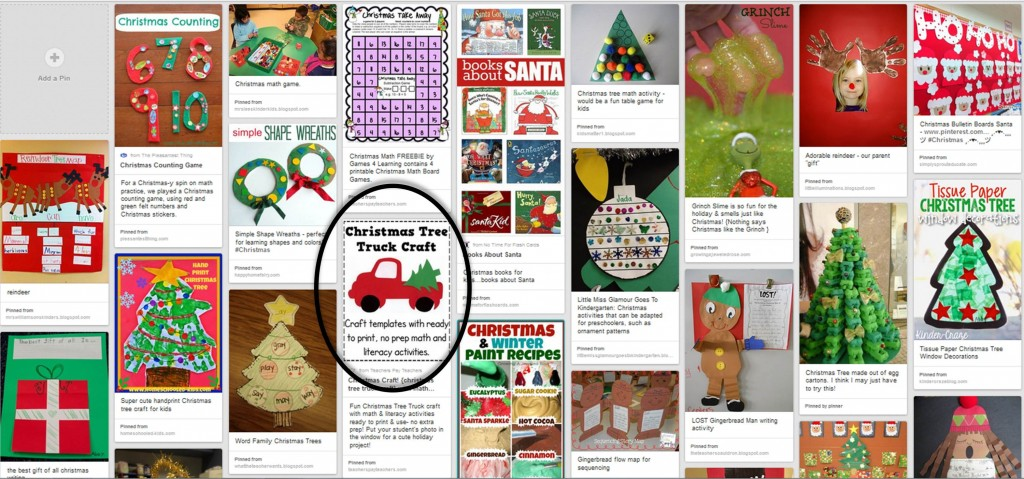 Christmas Sample Pin Board