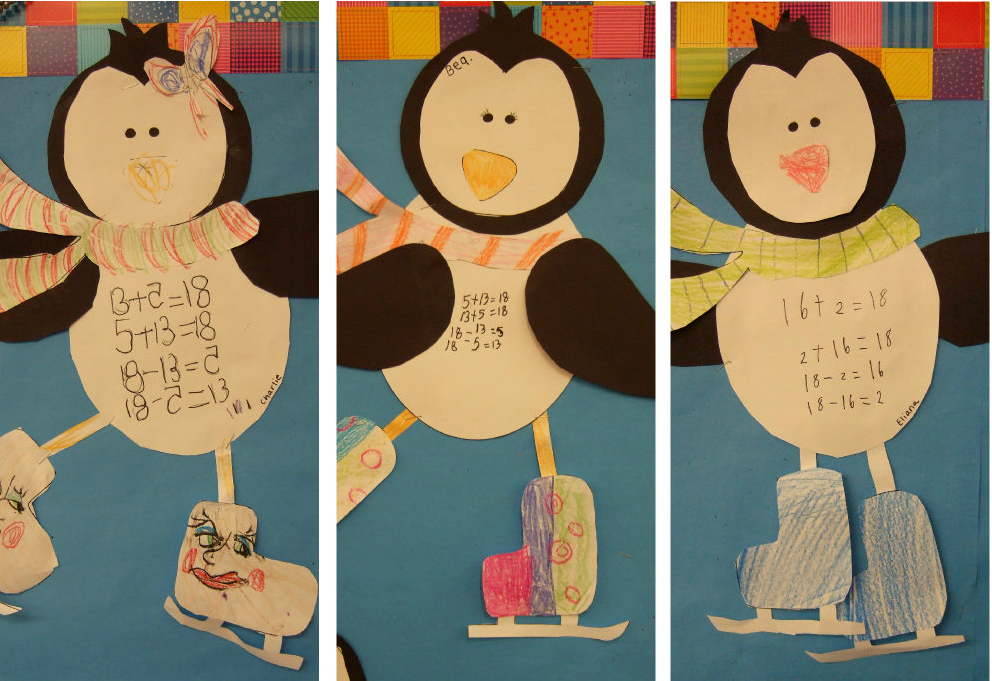 Penguin Fact Family Collage Trio