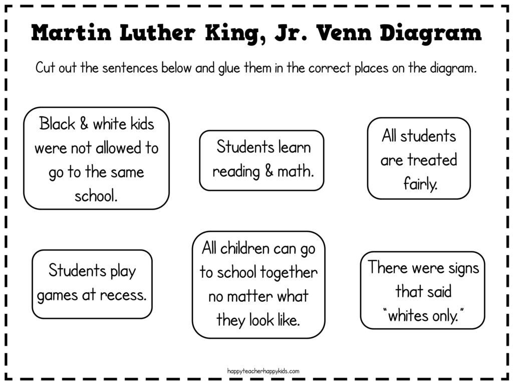 Martin Luther King Ideas for First Grade - Happy Teacher, Happy Kids