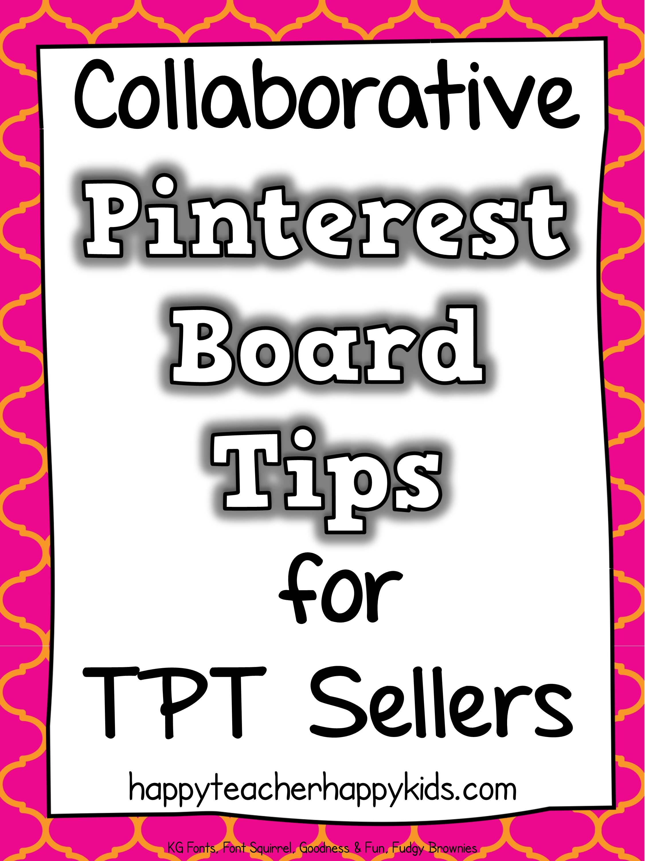 Collaborative Pinterest Board Tips for TPT Sellers
