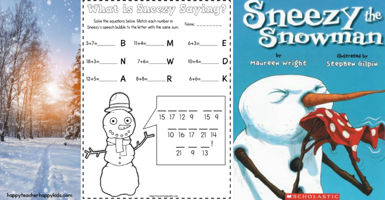 Sneezy the Snowman Ideas