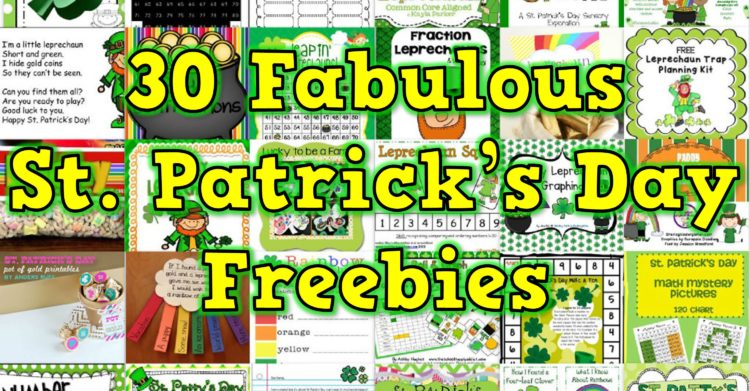 30 Saint Patrick's Day Freebies for K-2 Teachers