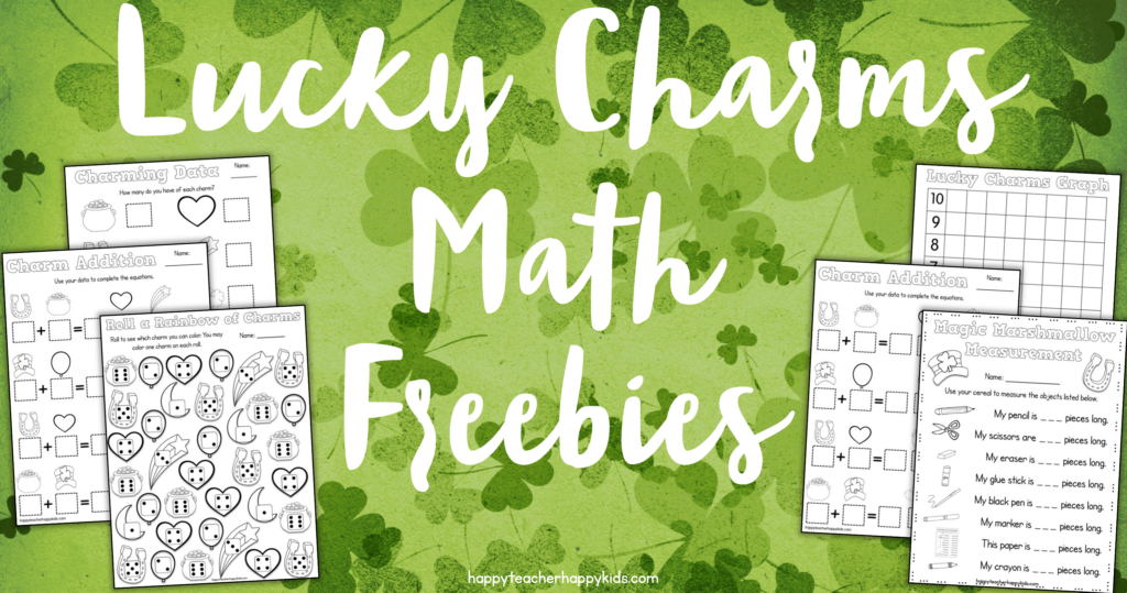 Lucky Charms Math Freebies FB blog header