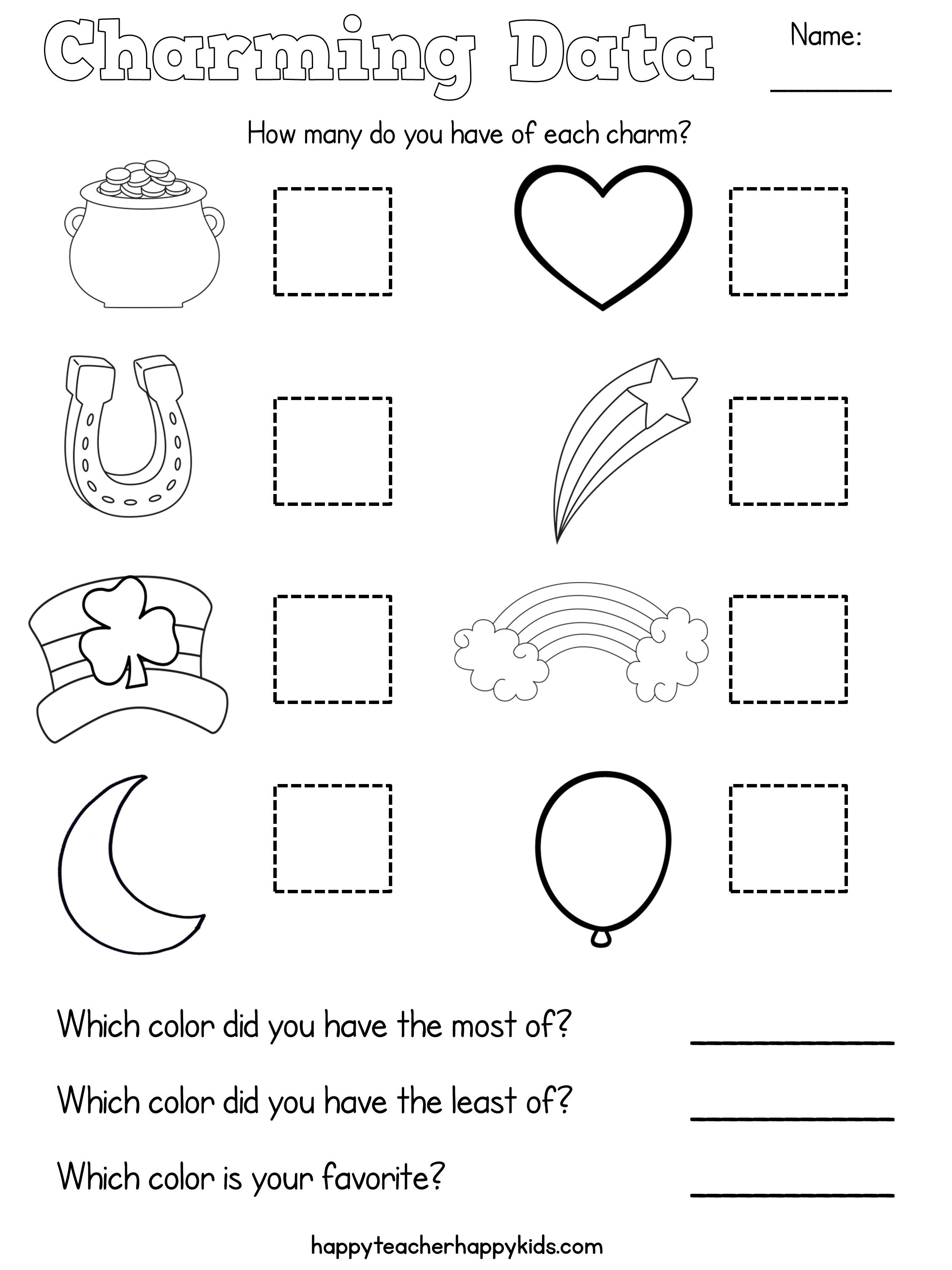 Free Lucky Charms Math More Happy Teacher Happy Kids – Fun Graphing Worksheets