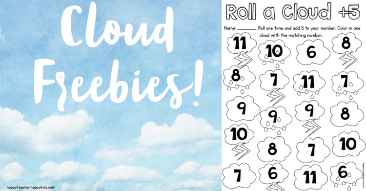 Cloud Fact Writing Freebies