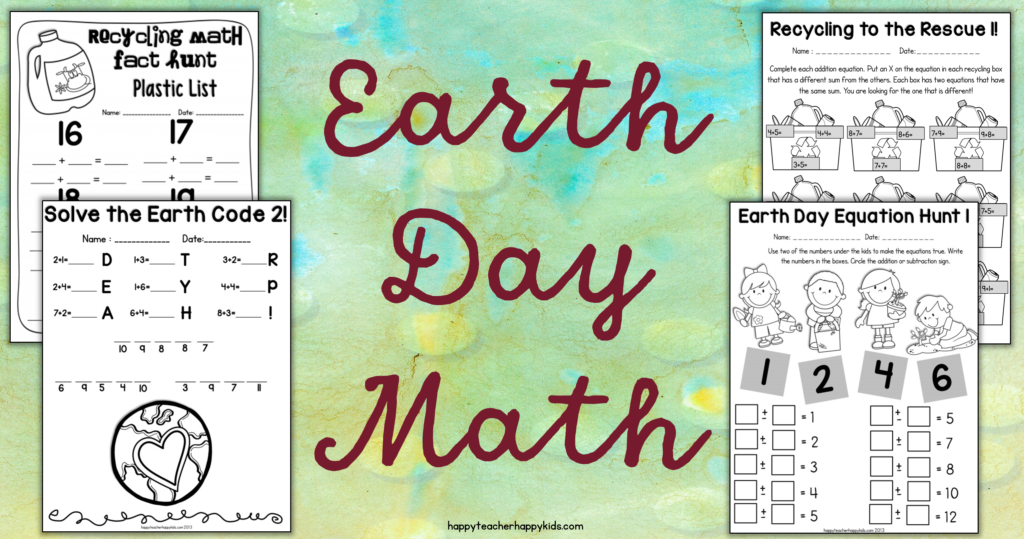 Earth Day Math FB Blog Header