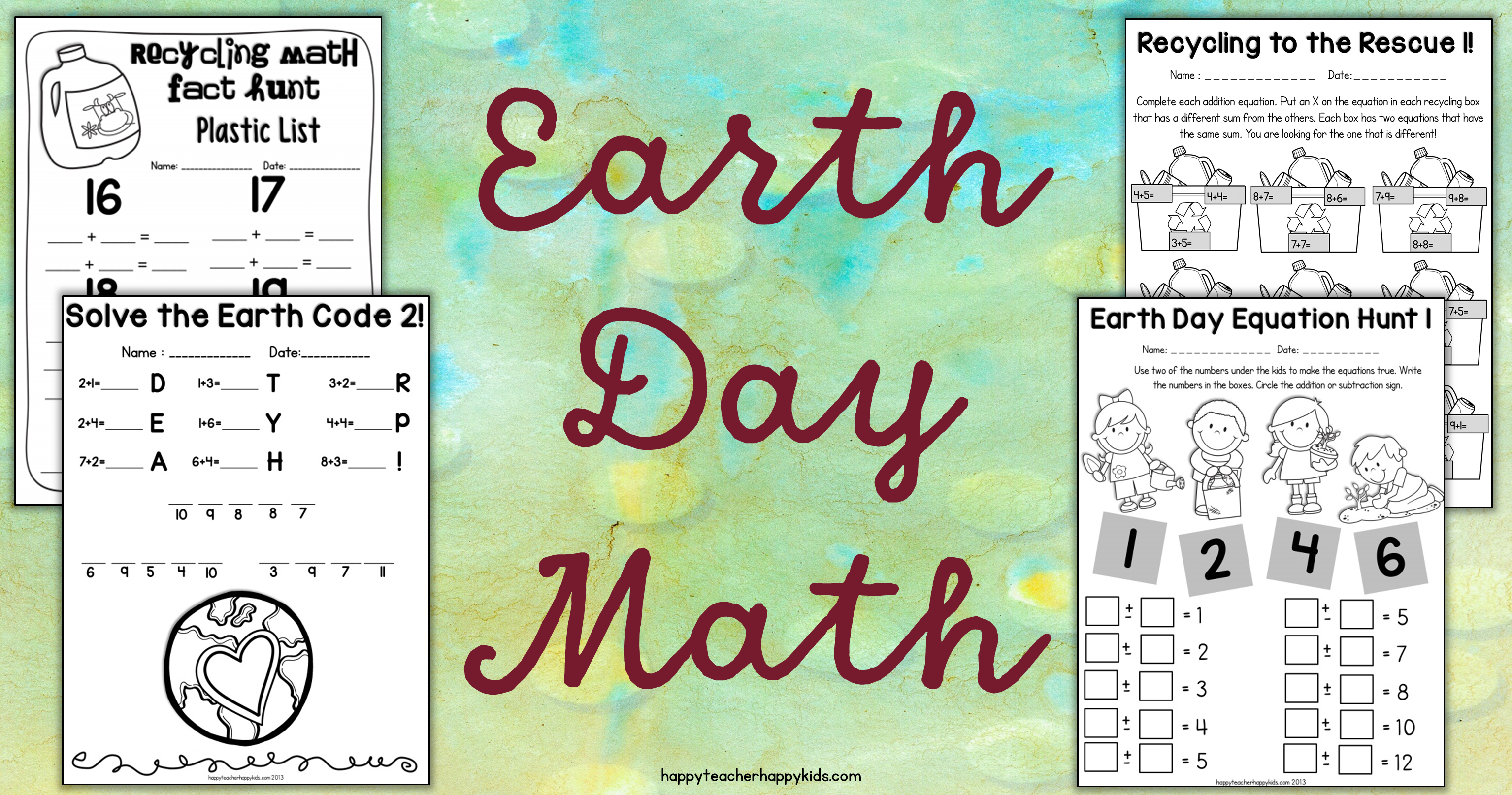 Earth Day Activities for Kindergarten First Grade  Second Grade