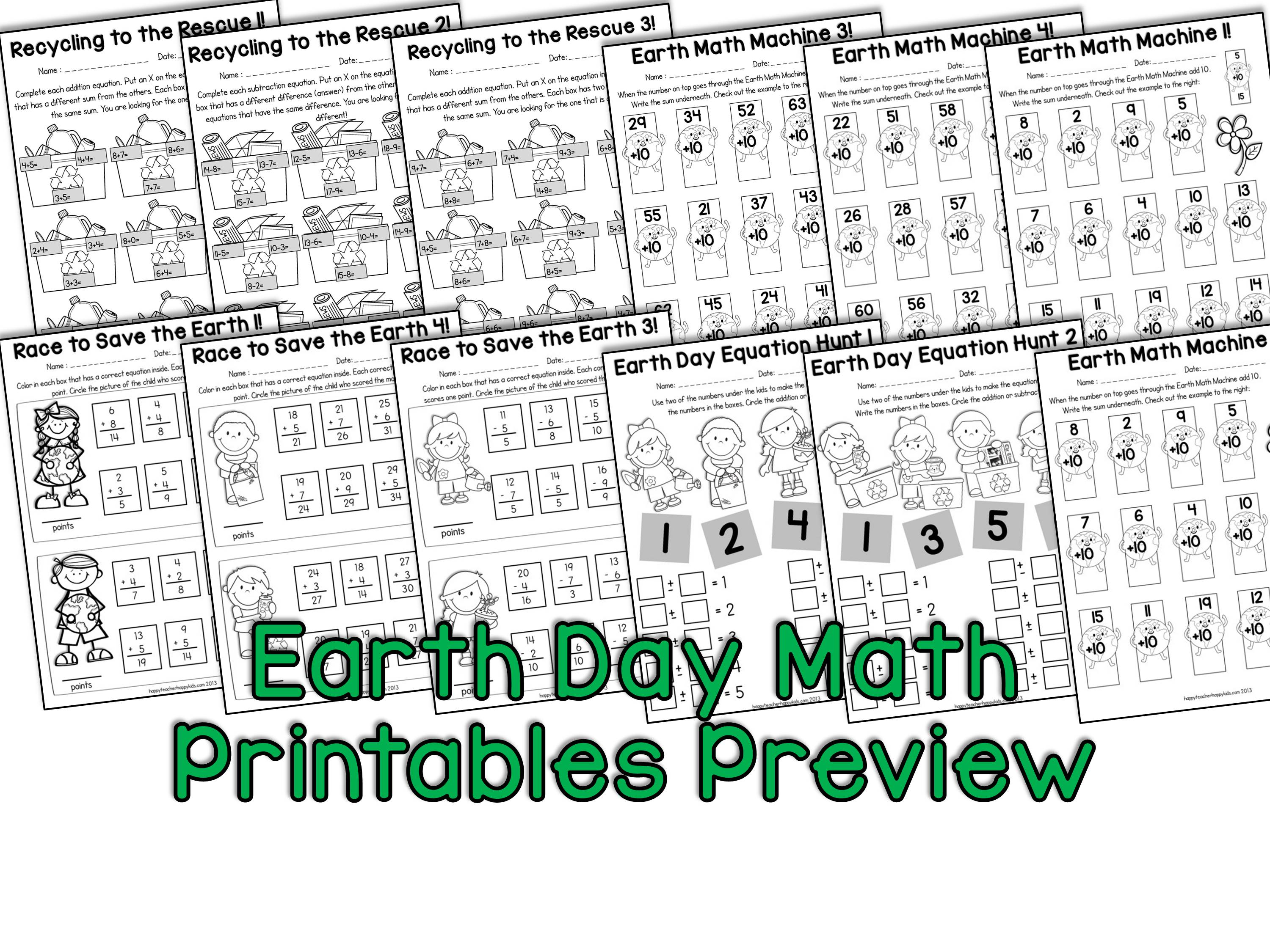 Earth Day Activities for Kindergarten, First Grade, & Second Grade ...