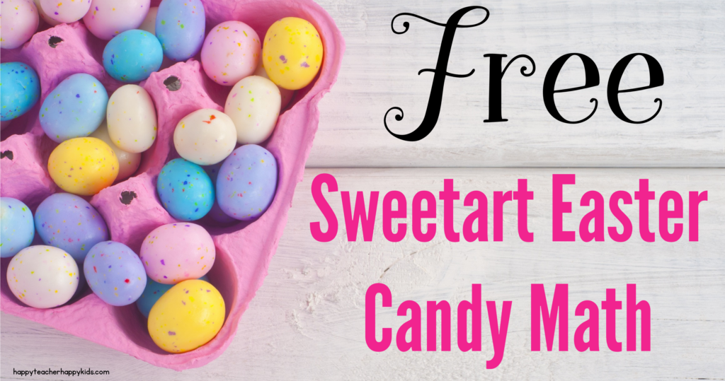 Free Sweetart Easter Candy Math FB Blog Header