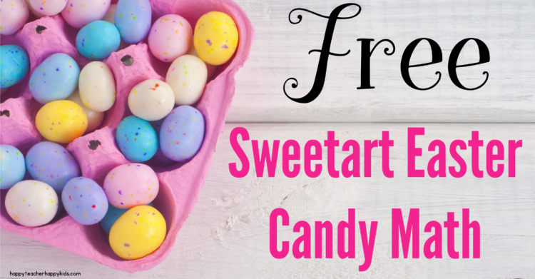 Free Sweetart Chicks, Ducks, & Bunnies Math Activities