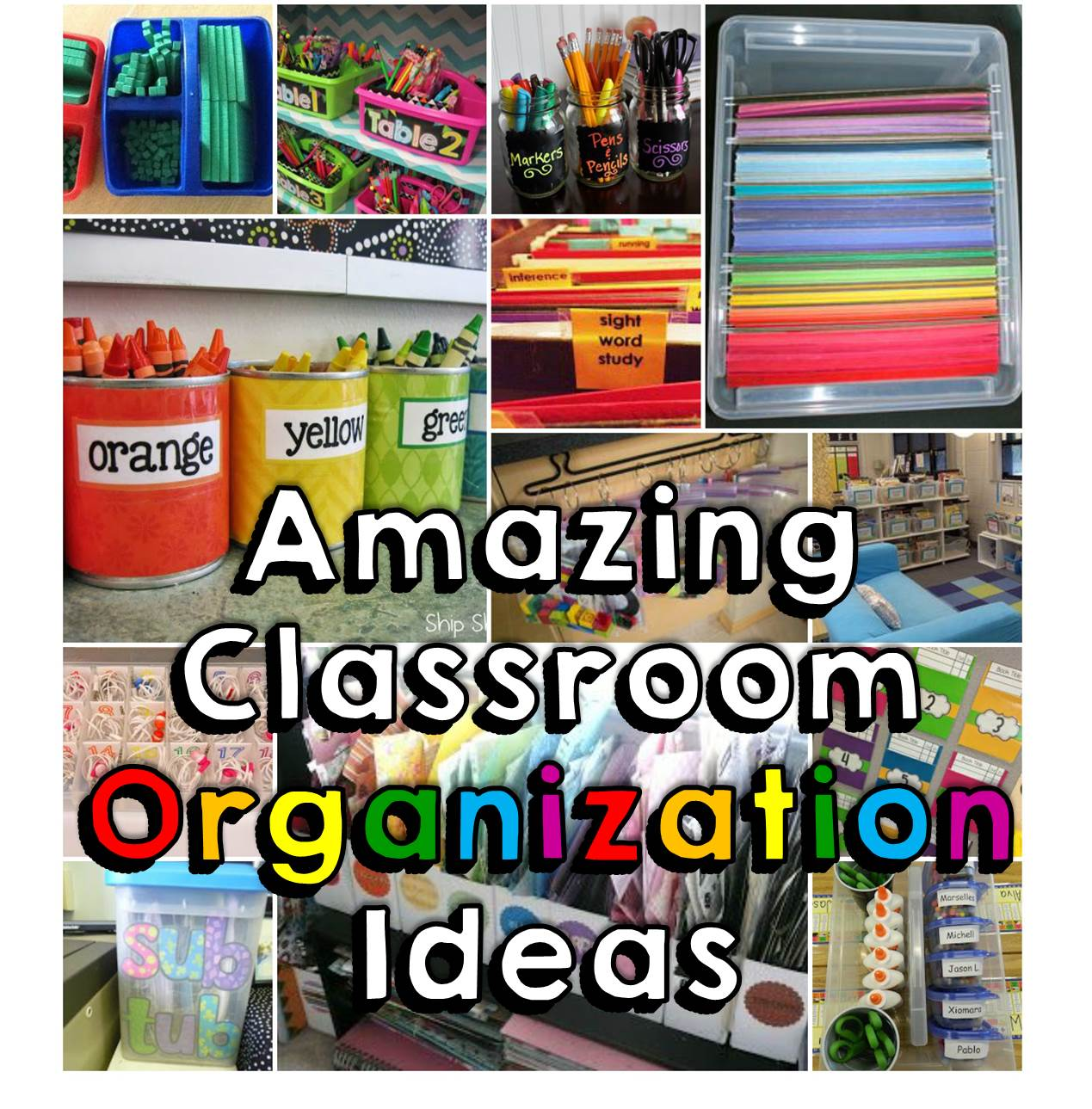 Classroom Storage Ideas ~ Amazing classroom organization tips tricks happy