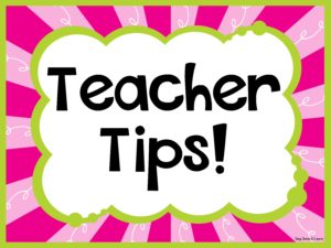 Teacher Tips Board Cover