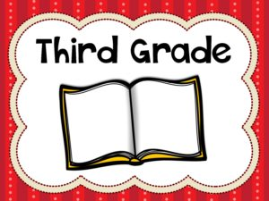 Third Grade Board Cover