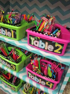 table supply baskets