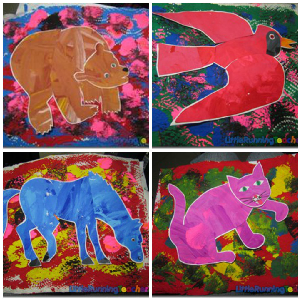 Brown Bear Collage Little Running Teacher