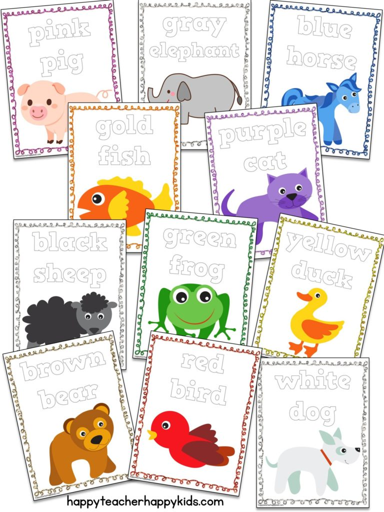 Brown Bear Play Dough Mats Collage