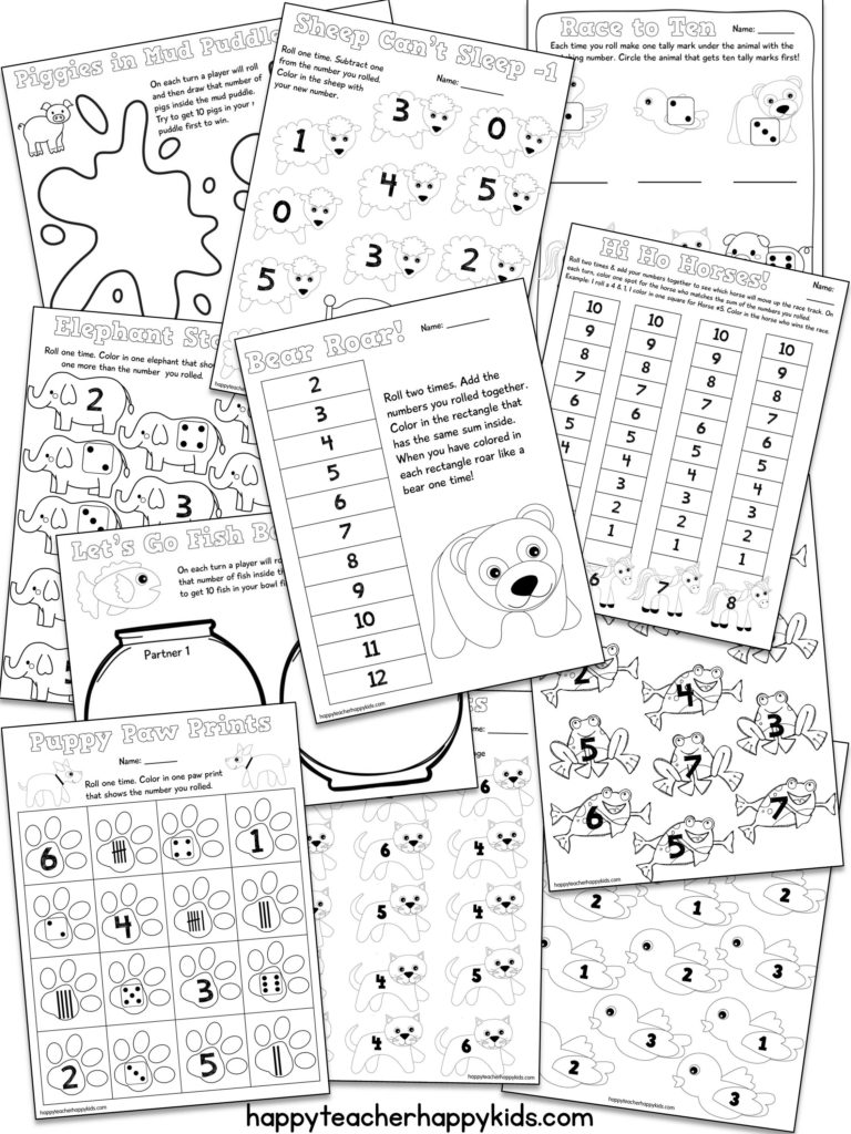 Brown Bear Printable Math Games