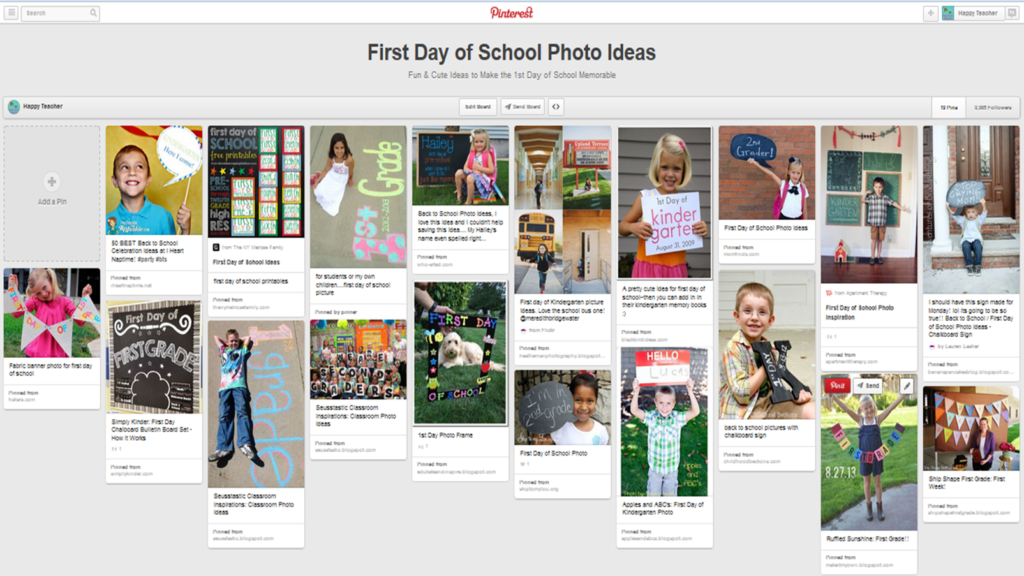 First Day Photo Ideas Pinterest Board