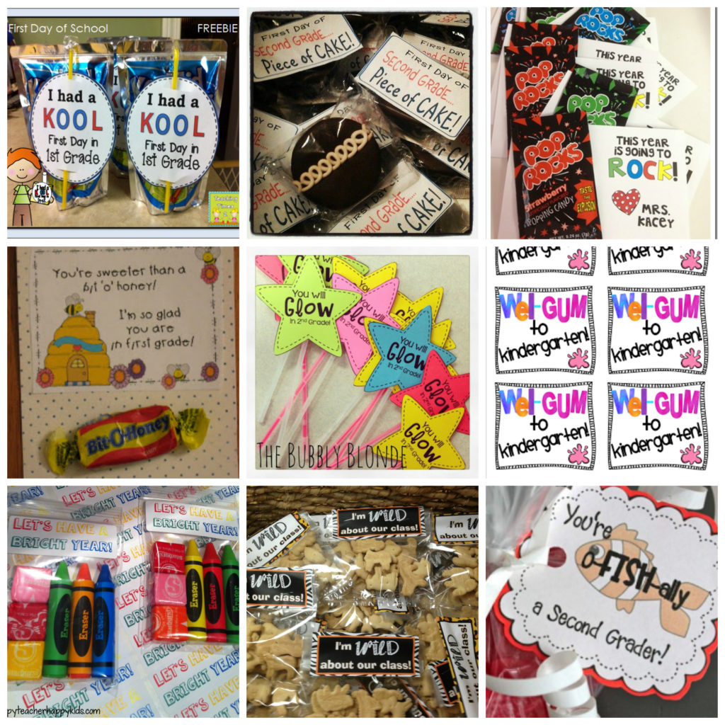 First Day of School Treat Tags Collage
