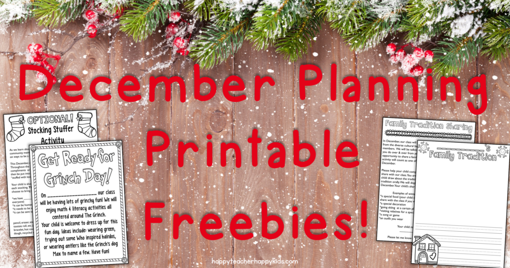 December Planning Printable Freebies FB Blog Header