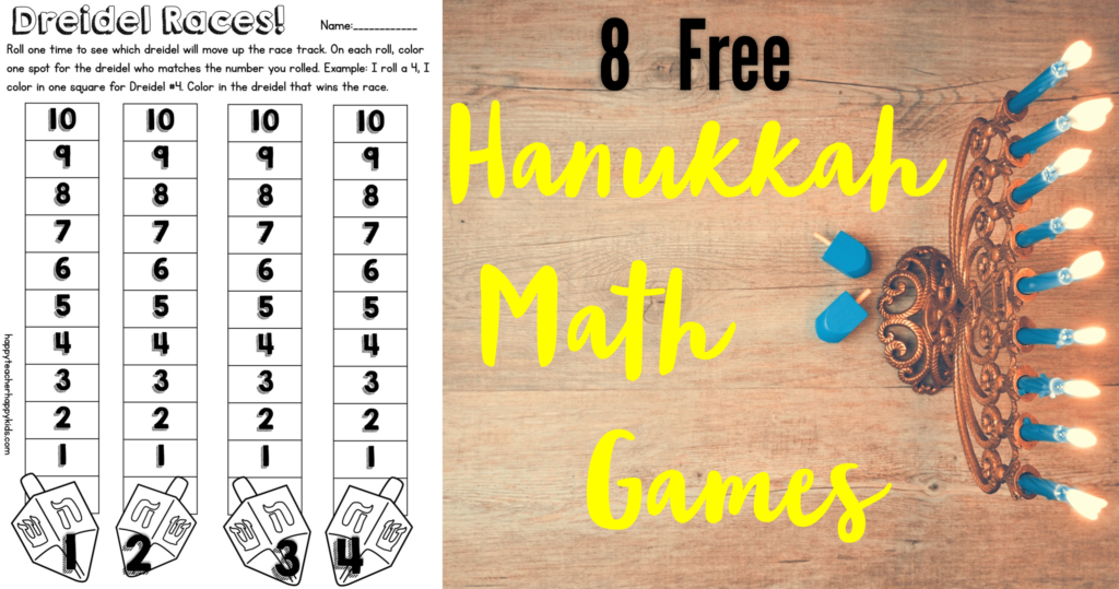 Free Hanukkah Math Games FB Blog Header