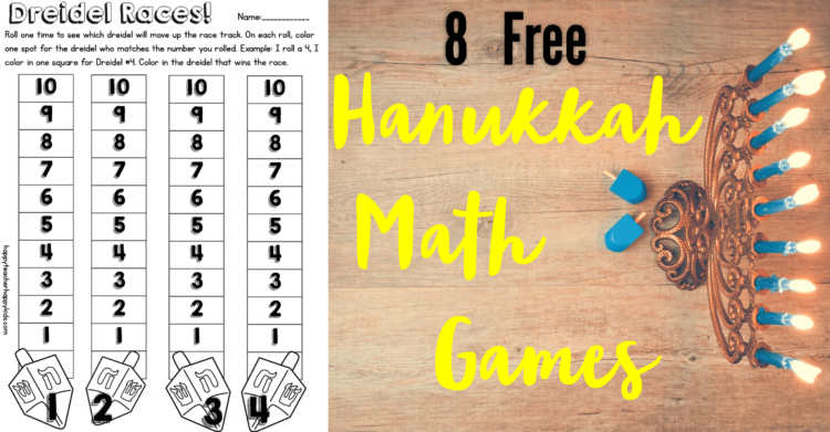 Free Hanukkah Resources for Kindergarten & First Grade