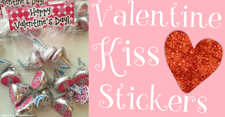 Free Valentine's Day Chocolate Kiss Stickers