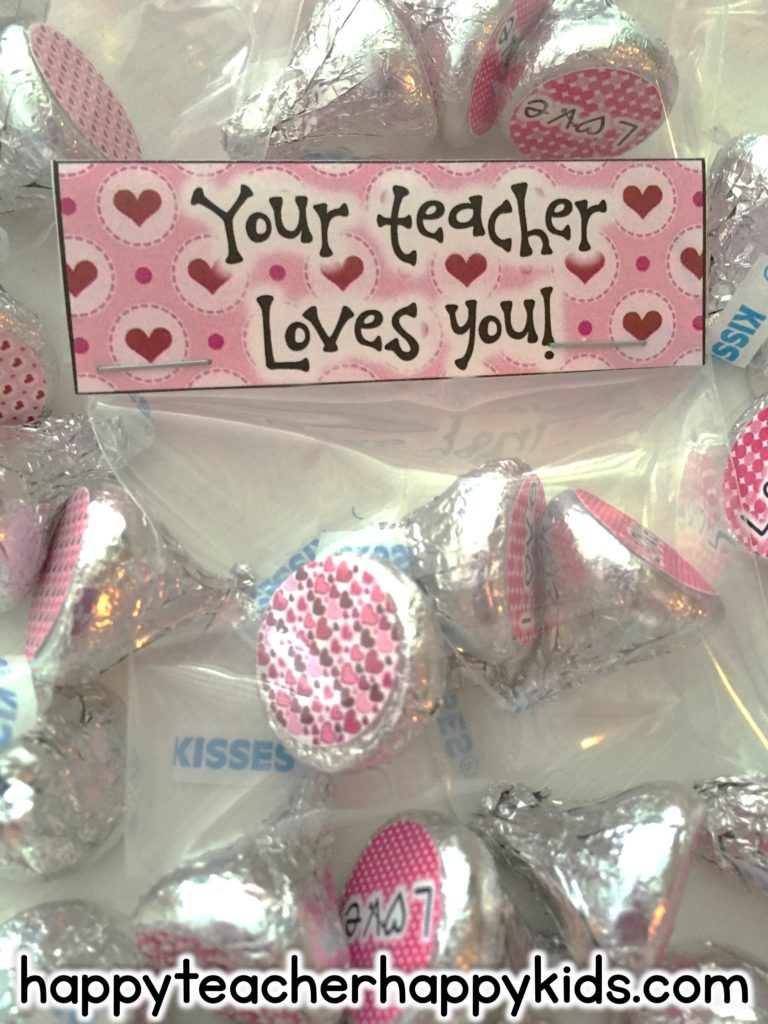 Your Teacher Loves You Kiss Stickers