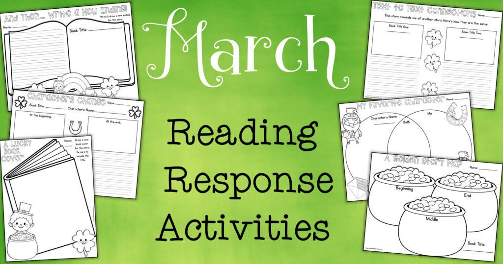 March Reading Response Activities FB Blog Header