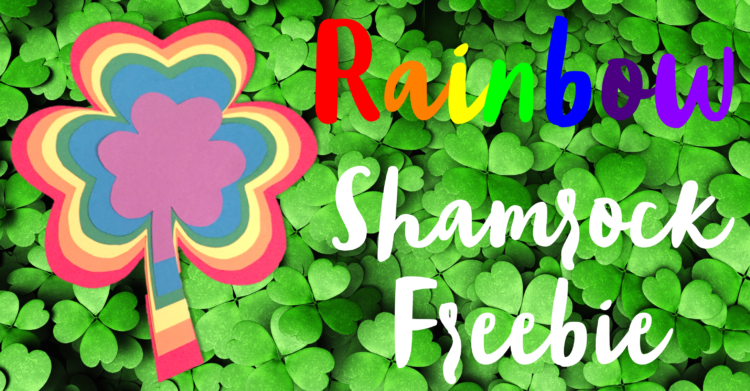 Rainbow Shamrock Craft Freebie