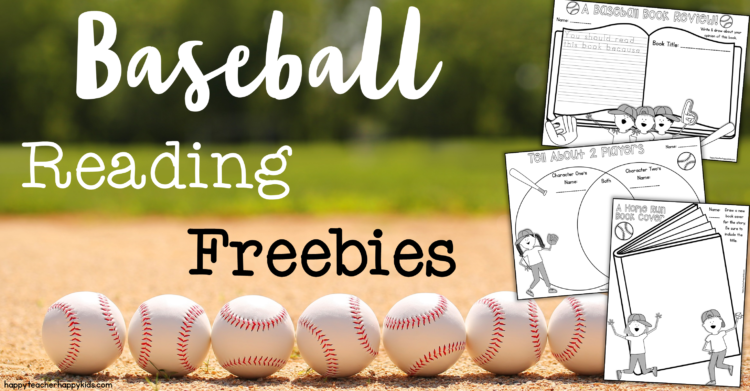 Free Baseball Reading Response Activities