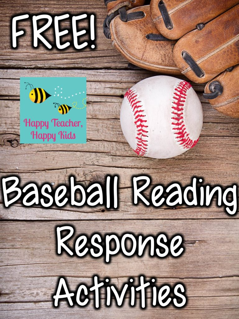 Free Baseball Reading Response Activities Image
