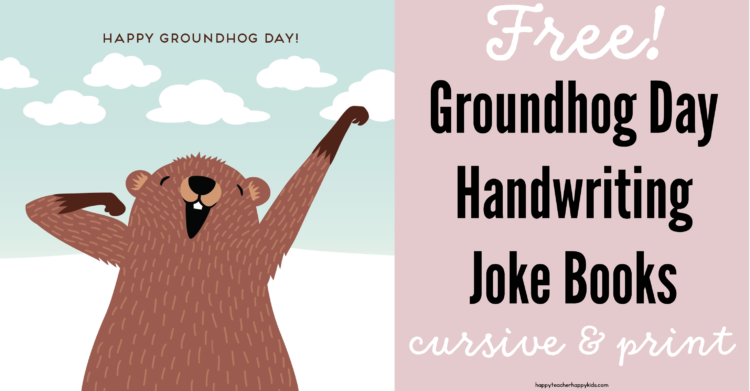 Groundhog Day Handwriting Freebie