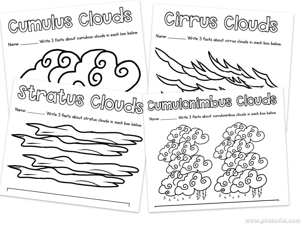 Workbooks weather worksheets for 1st grade : Learning about Clouds in First Grade - Happy Teacher, Happy Kids